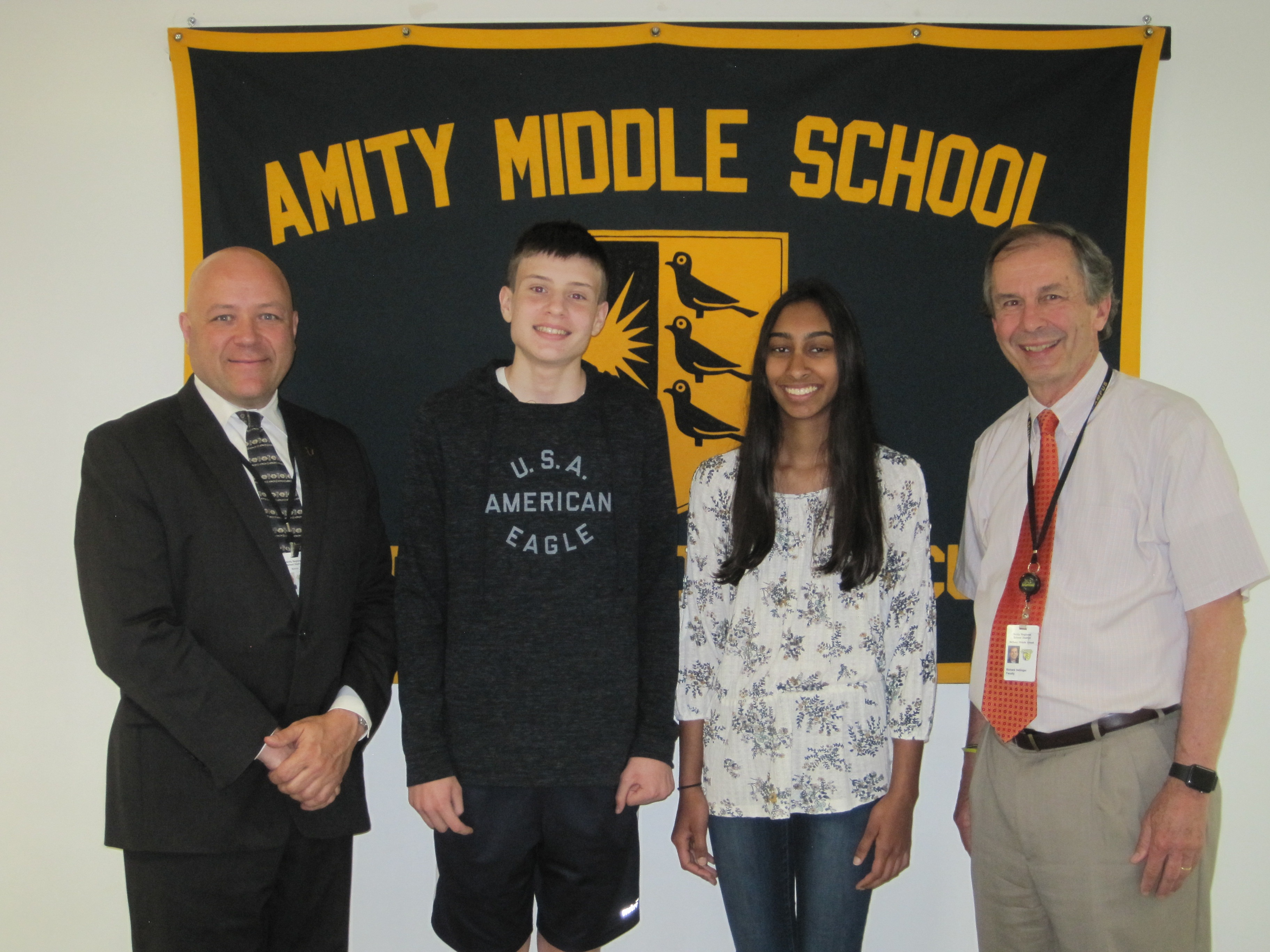 Amity Middle School, Bethany Campus Connecticut Association of Boards of Education (CABE) Student Leadership Award -2018