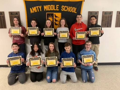 AMITY MIDDLE SCHOOL IN BETHANY CHARACTER OF THE 2ND QUARTER AWARDS