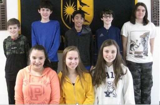 NATIONAL GEOGRAPHY BEE FINALISTS AT AMITY MIDDLE SCHOOL IN BETHANY
