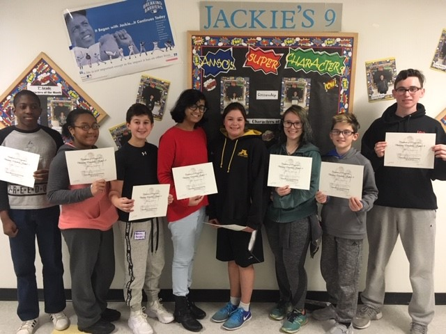 AMITY MIDDLE SCHOOL IN ORANGE NOVEMBER 2018 JACKIE'S NINE AWARDS