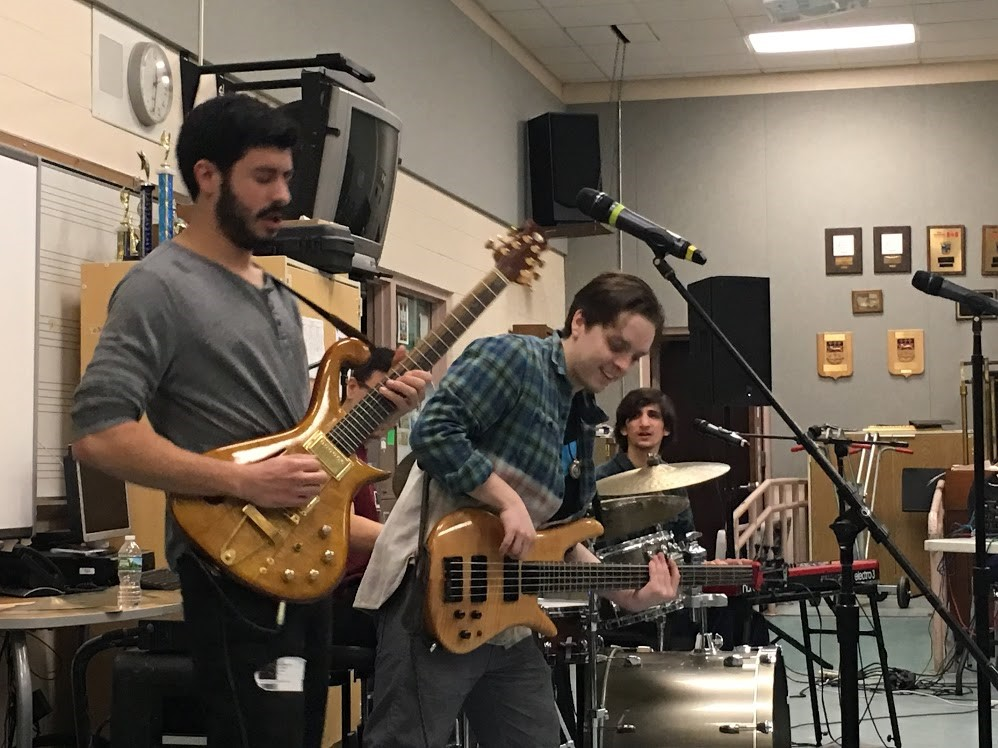 ROCK BAND EGGY VISITS AMITY REGIONAL HIGH SCHOOL