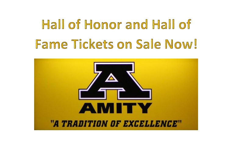 Amity Hall of Honor and Hall of Fame Tickets on Sale Now!